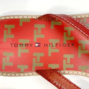 Tommy Hilfiger Shoes - Tommy Hilfiger Red Thong Sandals Size 9